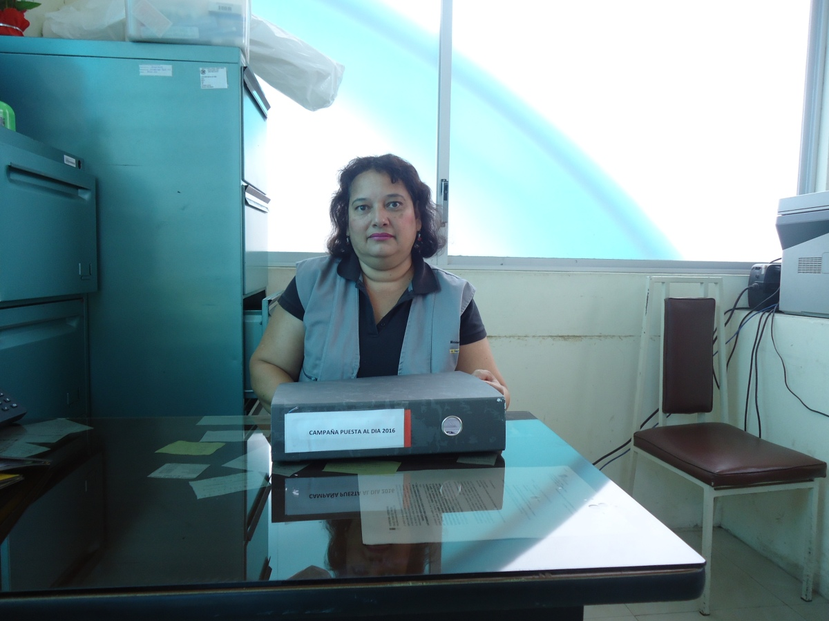 Mariana Acuña especialista de prevención y control